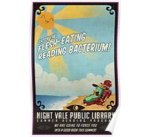 catch the FLESH EATING READING BACTERIUM Poster