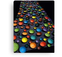 coloured bowls Canvas Print