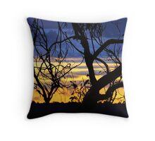 Verandah View Blue Throw Pillow