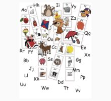 Alphabet Tee by Jennifer N. Heibloem