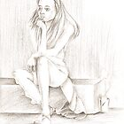 Thinking girl by Omary S