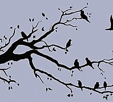 Birds on a Branch by Alison Newth