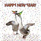 HAPPY NEW YEAR! from the Celebrating Geese by Gravityx9