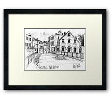 Windsor Eton pedestrian bridge - pen and ink sketch Framed Print