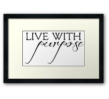 Alpha Gamma Delta - Live with Purpose Framed Print