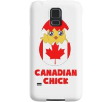 Canadian Chick, a Girl From Canada Samsung Galaxy Case/Skin