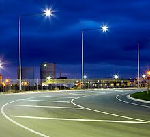 3 street lights by John Jovic