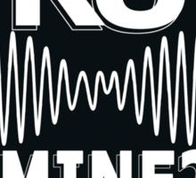 R U Mine? White Text, Gry/Blck Sticker