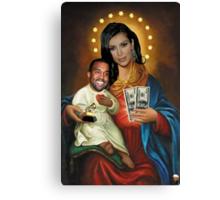 The Virgin Pornstar & Yeezus Canvas Print