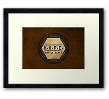 H.O.P.E. Battle Scars Logo Framed Print