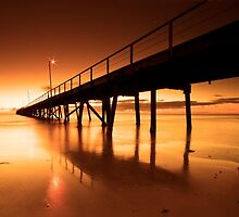 Golden Sands - Semaphore Jetty by KathyT
