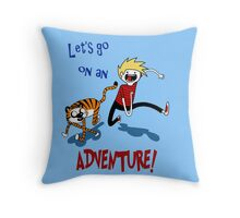 Adventure Time with Calvin and Hobbes Throw Pillow