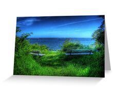 A Blue View Greeting Card