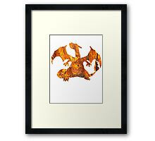 Charizard used Blast Burn Framed Print