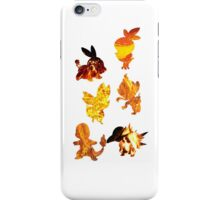Fire Type Starters  iPhone Case/Skin