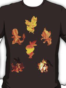 Fire Type Starters  T-Shirt