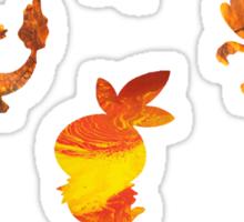 Fire Type Starters  Sticker