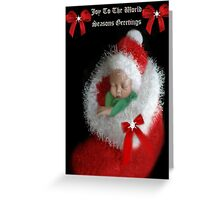 ☃ ☃ JOY TOO THE WORLD GREETING CARD VERSION TWO WITH TEXT PICTURE AND OR CARD☃ ☃ Greeting Card