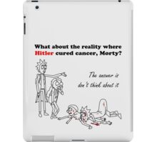 Rick and Morty kill themselves in black iPad Case/Skin