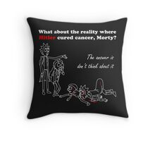 Rick and Morty kill themselves in white Throw Pillow