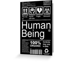 Human Being - Dark Greeting Card