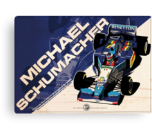 Michael Schumacher - F1 1995 Canvas Print