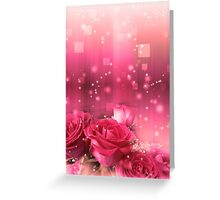 Roses in a Magic Light 2 Greeting Card