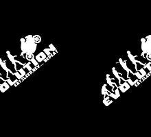 Biker Evolution Eat, Sleep, Rev... Repeat Black mug by outlawalien