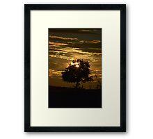 zon ondergang in Frankrijk  Framed Print
