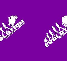 Biker Evolution Eat, Sleep, Rev... Repeat Purple mug by outlawalien