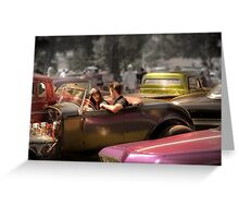 Portrait of a Hot Rod Couple Greeting Card