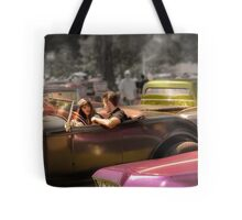 Portrait of a Hot Rod Couple Tote Bag