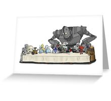 The Last Robot Supper Greeting Card