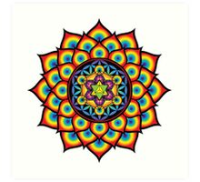 Flower of Life Metatron's Cube Art Print