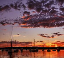 Croudace Bay Sunset 6 by Mark Snelson