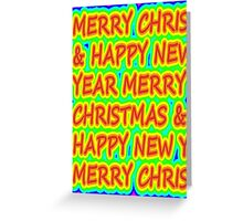 color merry christmas Greeting Card