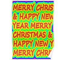 color merry christmas Poster