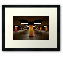 ufo station Framed Print