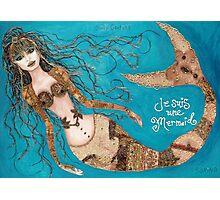Je Suis Une Mermaid - Sand with Aqua Photographic Print