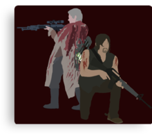 Carol Peletier and Daryl Dixon (Version 1) - The Walking Dead  Canvas Print