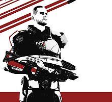 N7- Commander Shepard (Male) by Asarimaniac