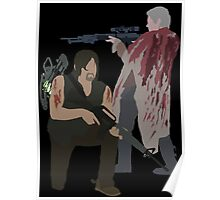 Carol Peletier and Daryl Dixon (Version 2) - The Walking Dead Poster