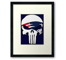 New England Patriots Punisher Logo Framed Print