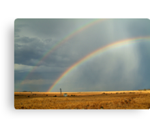 Rain and Rainbows,Rural Geelong Canvas Print