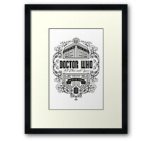 Doctor Who All the Time and Space Vintage Framed Print