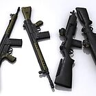 M-14 and G3 rifles by SenorFreebie