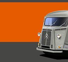 Citroen H Van Illustrated Mug by RJWautographics