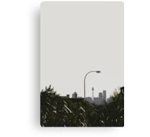 skyline & lamp post Canvas Print