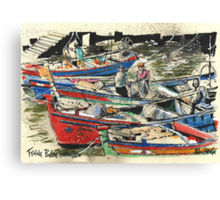 Fishing Boats, Ferragudo, Portugal Canvas Print