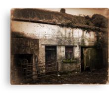Old Rundown Irish Farm Canvas Print